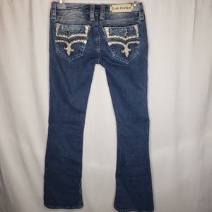 Rock Revival caress boot cut embroidered jeans